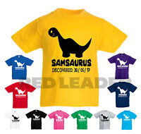 Personalised Kids Dinosaur T-Shirt - Great Birthday Gift Boys Girls Jurassic T