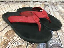 OluKai Ohana Red Thong Sandals Men's Size 13