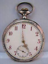 Ancre Spiral Breguet Columbus Montre à gousset argent 800 silver pocket watch pour 1920