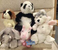 Webkinz Lot Pink Pony Panda Elephant White Rabbit Lil' Kinz Husky & St. Bernard