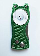 Pitchfix Classic grün aufklappbare Pitchgabel Ballmarker Golfball Smile Top