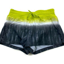 Athleta Womens Small Green Gray Nylon Drawstring Shorts