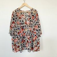 Show Me Your Mumu Shook Tunic Rose Ranger Floral Size Small
