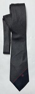 DUNHILL BLACK  TIE 100% SILK POLKA DOT 60''/3'' EXCELLENT CONDITION