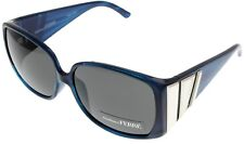 Gianfranco Ferre Sunglasses Women Swarovski Silver Blue Rectangular GF918 04