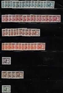 Indochina: little lot stamps overprint different zones, EBFRC02