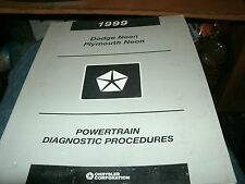 1999 DODGE PLYMOUTH NEON POWERTRAIN ENGINE DIAGNOSIS SHOP SERVICE MANUAL