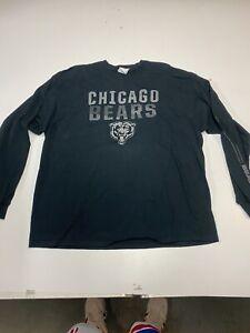 Chicago Bears Vintage Classic Shirt 2XL Long Sleeve Black Majestic