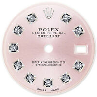 REFINED LADIES SS DATEJUST METALLIC PINK DIAMOND DIAL FOR ROLEX-26