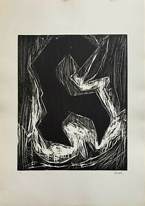 Gualtiero Nativi xilografia l'Incubo 65x46 firmata numerata cartella Bisonte