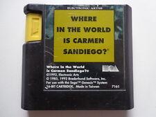 Mega Drive - Where in the World is Carmen Sandiego (Modul)