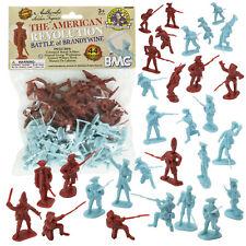 BMC REVOLUTIONARY WAR Plastic Army Men RED British BLUE American Soldier Figures