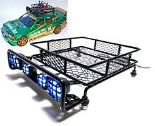 RC Rally Car Roof Led Light Rack for Tamiya TT01 TT02 TT01e M05 M06 Xv-01