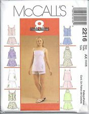 McCall's Sewing Pattern # 2216 Misses Tops and Shorts Sets Size 4-6-8