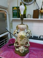 LARGE AUSTRIAN AESTHETIC MOVEMENT AMPHORA VASE LAMP IN THE JAPANESE STYLE