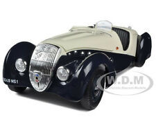 PEUGEOT 302 DARL MAT BLUE/CREAM  1/18 DIECAST CAR MODEL BY NOREV 184705