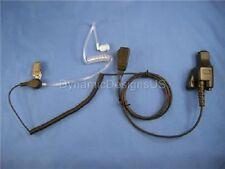 SWAT Police Clear Tube Headset for Motorola XTS 2500 MTX9000 HT1000 MT PR Models