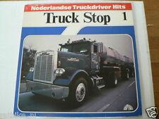 LP RECORD VINYL COVER TRUCK STOP 1 NEDERLANDSE TRUCKDRIVER HITS WHITE FREIGHTLIN