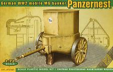 ACE 1/72 72561 WWII German PAZNERNEST Mobile Machine Gun Bunker