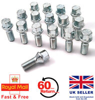 Audi A6 S6 RS6 aftermarket alloy wheel bolts. M14 x 1.5, Taper set of 16