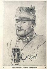 Tiroler Standschütze Zeichnung von Karl Hayd c.1917