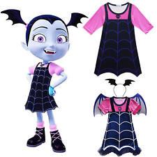 Kids Girls Vampirina Dress Princess Party Halloween Fancy Dress Cosplay Costume