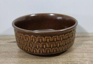 Vintage Stoneware Bowl WEDGWOOD Pennine Brown Textured Mid Century Modern