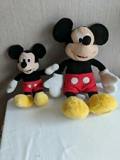 2 x Disney Store Plush Micky Mouse one posh paws the other Disney store