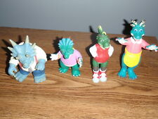 Vintage Disney Dinosaurs Tv Series Action Figures Lot of 4 Sinclair Family