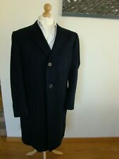 CHESTER BARRIE 100% CASHMERE NAVY LONG COAT 42S