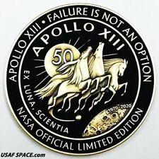 APOLLO 13 - 50th ANNIVERSARY -BLACK- EXTREME LIMITED EDITION-FLOWN MEDALLION