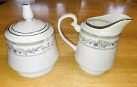 "Beautiful Vtg APROPOS ""BRIDGEHAMPTON"" china set Creamer / Sugar Bowl w/Lid Nice!"