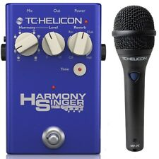 TC Helicon Harmony Singer 2 Vocal Processing Pedal with MP75 Microphone