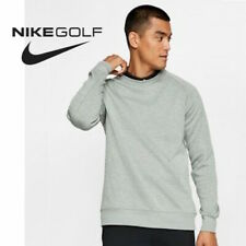 Nike Golf Dry Top Crew Knit Sweaters AV4127 Gray Green Men's size Large
