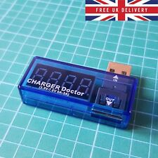 USB Digital Tester LED Charging Doctor Voltage Current Meter Power Detector - UK