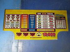"""Bally Winning For Dummies, 9"""" x 9-1/2"""", Slot Machine Bottom Glass, C694-C0051"""
