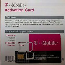 TMobile Prepaid Activation kit,4G LTE OEM NANO / MICRO,REG Sim + Activation Code