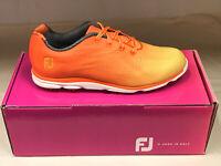 NEW FootJoy EmPower 98005 Orange Womens Golf Shoes 8.5M WATERPROOF Were $135