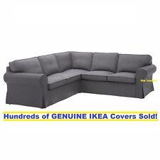 Ikea Rp 4 Seat Sectional Corner Sofa Slipcover Cover Nordvalla Dark Gray