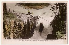 Canada Canyon Jasper National Park Vintage RPPC Hand Colored
