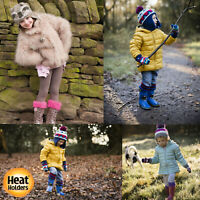 Heat Holders - Girls Boys Kids Warm Thick Colourful Winter Thermal Crew Socks
