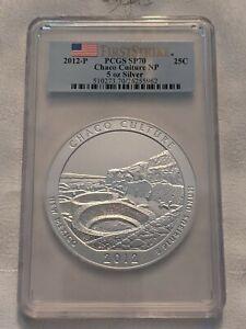 2012-P CHACO CULTURE AMERICA BEAUTIFUL ATB 5 Oz SILVER PCGS SP70 FIRST STRIKE