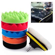 7pcs 7inch Buffer Waffle Sponge Polishing Waxing Backer Pad fit for Car Polisher