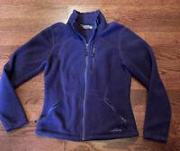 Eddie Bauer 365 Women's Athletic Purple Fleece Liner Jacket Size Medium