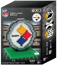 Pittsburgh Steelers BRXLZ Team Logo 3-D Puzzle Construction Toy New - 420 Pieces