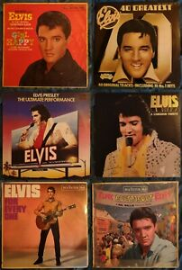 ELVIS PRESLEY Job Lot 5 x LPs, 1 double LP, vinyl bundle