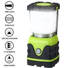 Lampada Lanterna a Batteria da Campeggio Luce Emergenza Regolabile 1000 Lm IP44
