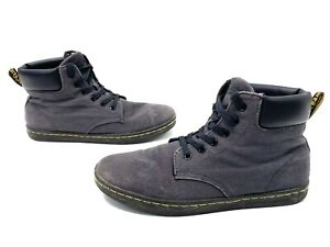 Womens Size 10 Dr Martens Maelly Lace Up Boots Gray/Black Boots Canvas
