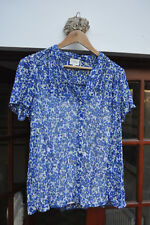 Kaliko blue abstract floral blouse - size 16 - lovely!