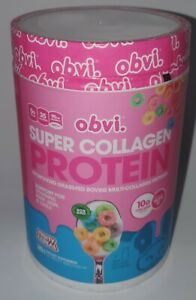 obvi Super Collagen Protein Powder Fruity Cereal 360G Exp 11/2022